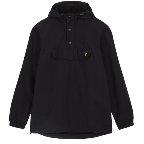 Lyle & Scott Overhead Anorak in Black Coats & Jackets Lyle & Scott