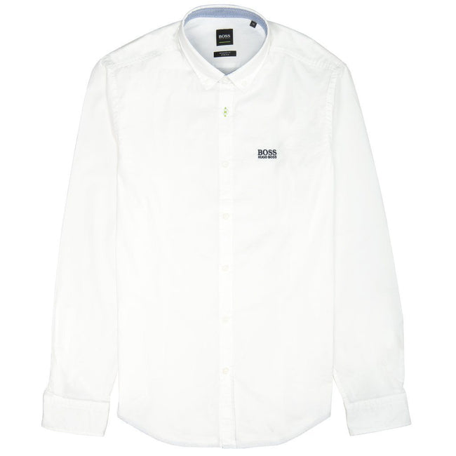 BOSS Athleisure Biado R Long Sleeved Shirt in White