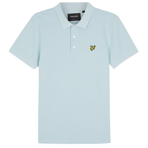 Lyle & Scott Slim Stretch Polo Shirt in Blue Shore Polo Shirts Lyle & Scott