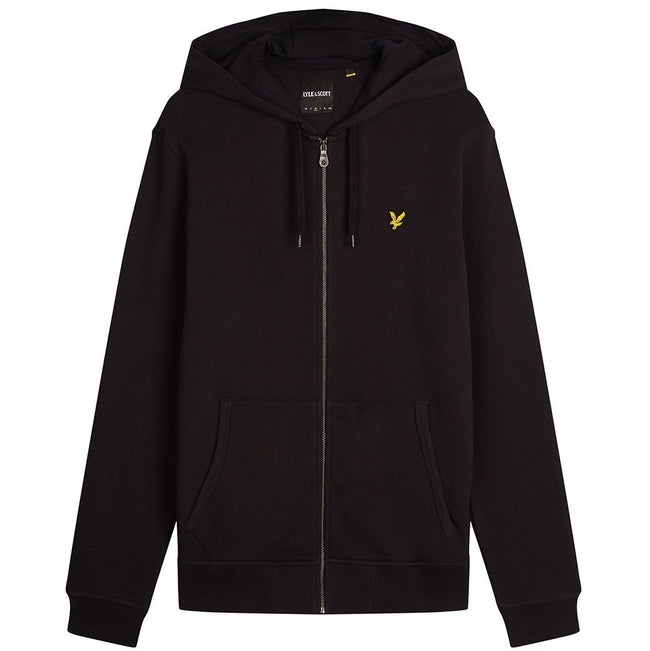 Lyle & Scott Zip Through Hoodie in True Black
