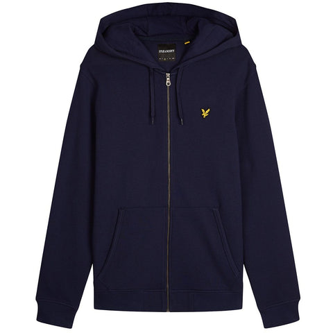 Lyle & Scott Zip Through Hoodie In Navy Blue Hoodies Lyle & Scott