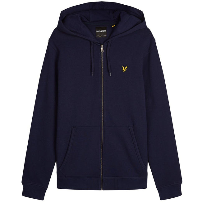 Lyle & Scott Zip Through Hoodie In Navy Blue