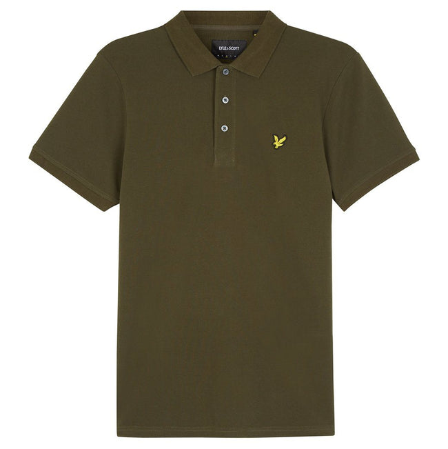Lyle & Scott Plain Polo Shirt in Dark Sage