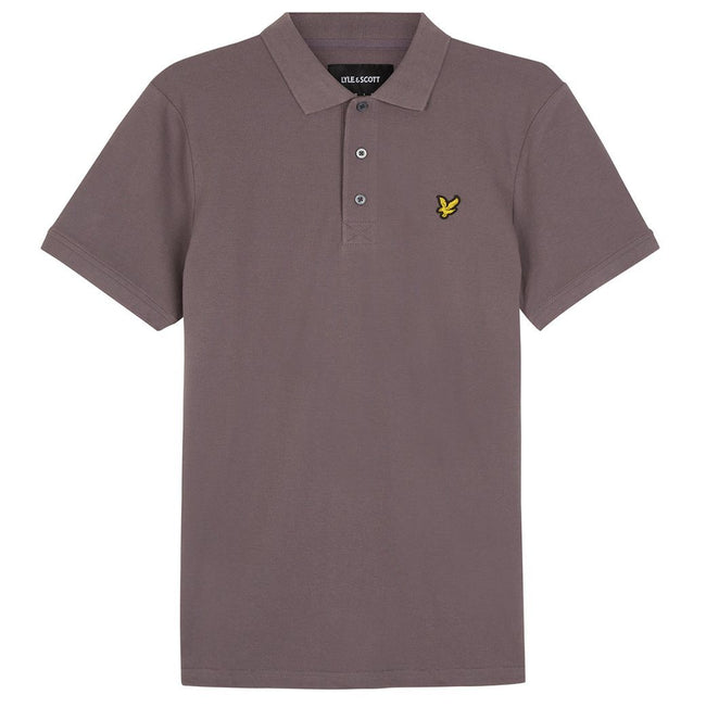 Lyle & Scott Plain Polo Shirt In Pelican Grey