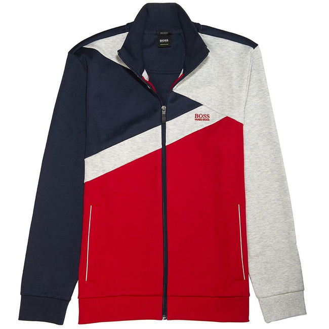 BOSS Athleisure Skaz 2 Full Zip Track Jacket in Navy