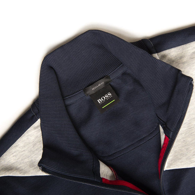 BOSS Athleisure Skaz 2 Full Zip Track Jacket in Navy Jumpers BOSS