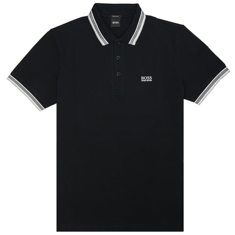 BOSS Athleisure Paddy Polo Shirt in Black Polo Shirts BOSS