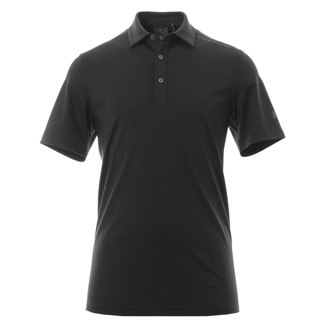 Oscar Jacobson Chap Course Polo In Black