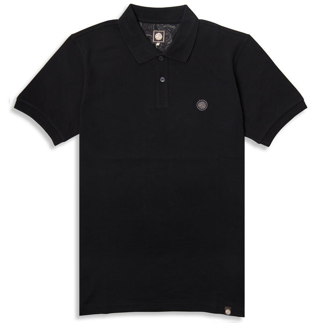 Pretty Green Pique Polo In Black