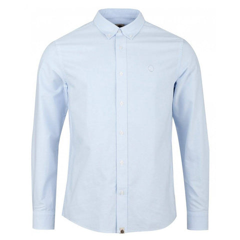 Pretty Green Classic Fit Oxford Shirt in Sky Blue Shirts Pretty Green