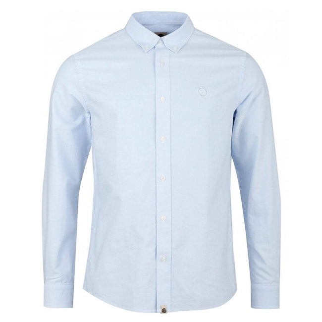 Pretty Green Classic Fit Oxford Shirt in Sky Blue