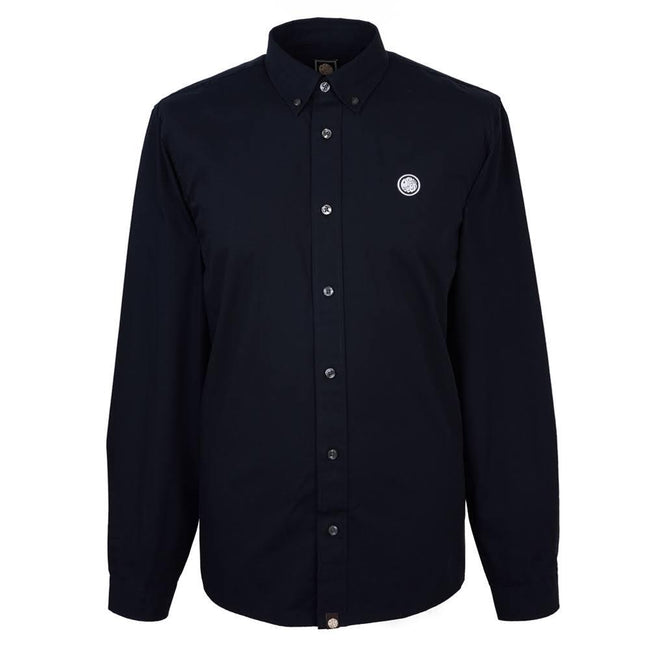 Pretty Green Classic Fit Oxford Shirt In Black