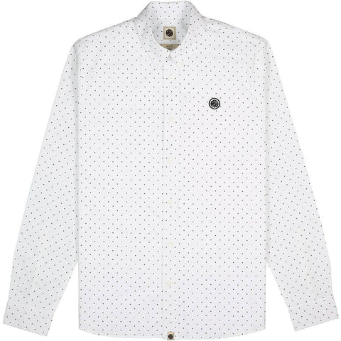Pretty Green Slim Fit Polka Dot Shirt in White Shirts Pretty Green