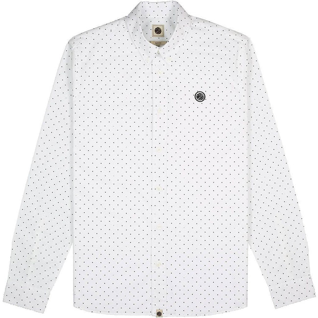 Pretty Green Slim Fit Polka Dot Shirt in White