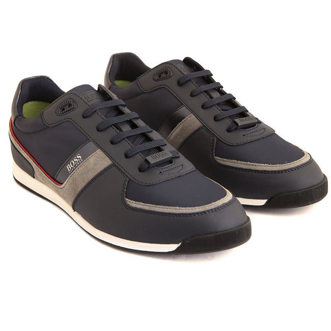 BOSS Athleisure Maze Lowp NYMX Trainer in Navy Trainers BOSS