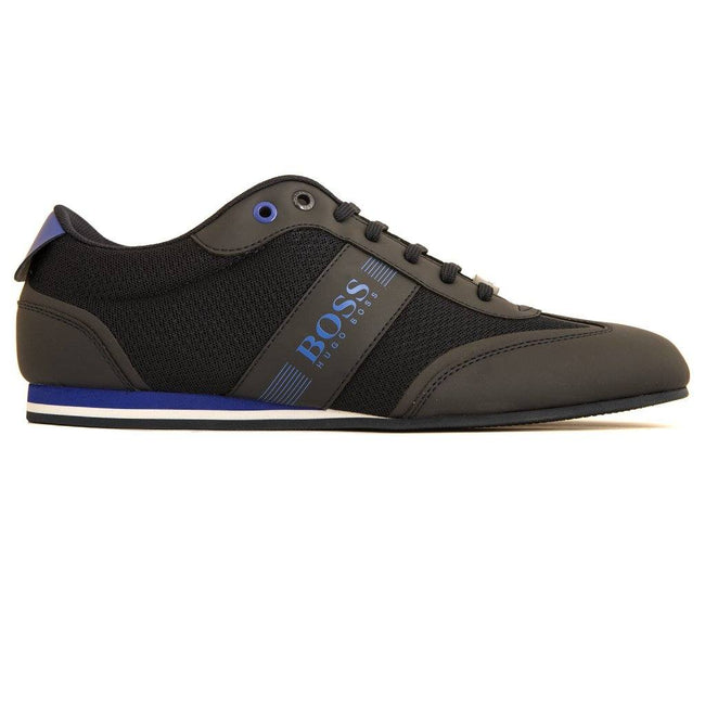 BOSS Athleisure Lighter Lowp MXME Trainers in Black / Blue Trainers BOSS