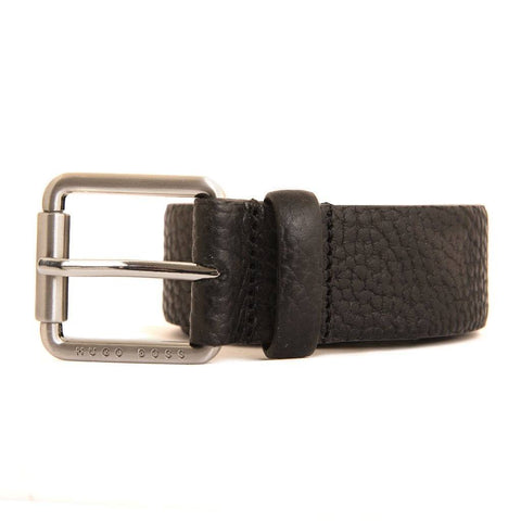 BOSS Athleisure JUL Leather Belt in Black Belts BOSS
