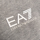 Emporio Armani EA7 Full Zip Hooded Sweatshirt in Medium Grey Marl Hoodies Emporio Armani EA7