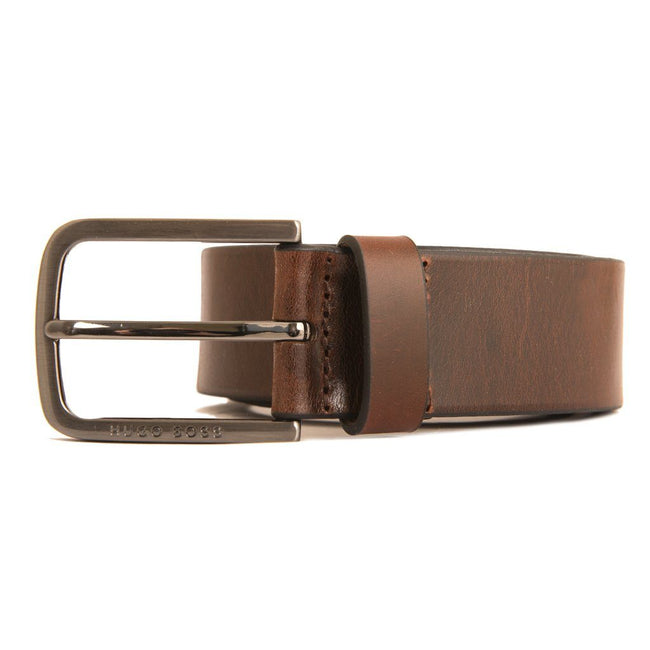 BOSS Athlesiure Serafy Leather Belt in Brown