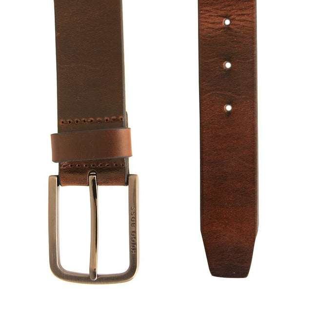 BOSS Athlesiure Serafy Leather Belt in Brown Belts BOSS