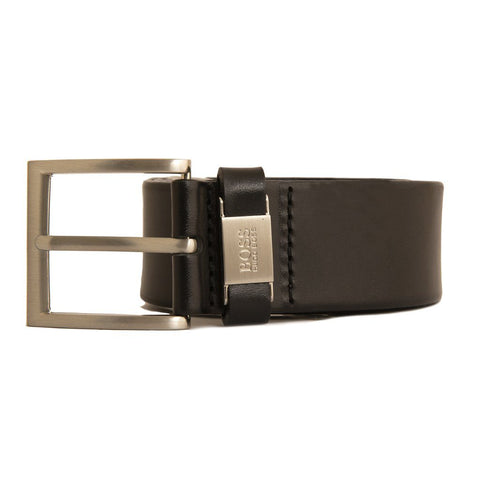 BOSS Athleisure Connio Leather Belt in Black Belts BOSS
