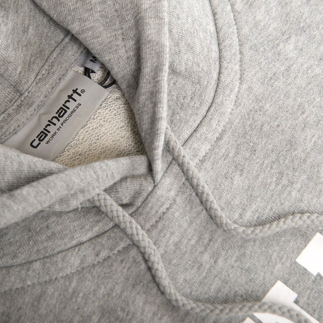 Carhartt Hooded College Sweatshirt in Grey Heather/White Hoodies Carhartt