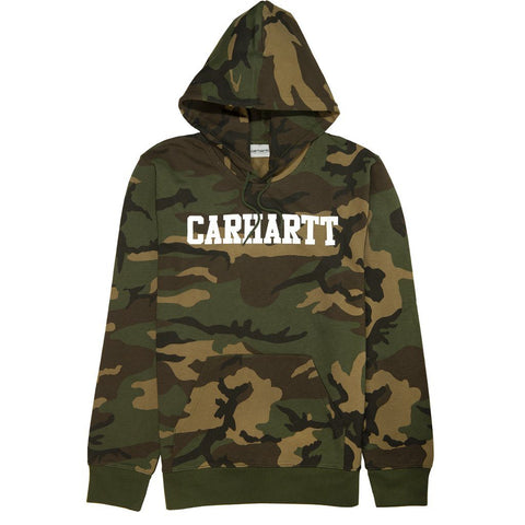 Carhartt Hooded College Sweatshirt in Camo Laurel/White Hoodies Carhartt
