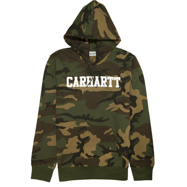 Carhartt Hooded College Sweatshirt in Camo Laurel/White