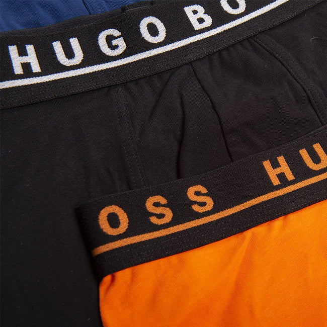 BOSS Athleisure Three Pack Of Jersey Trunks in Black / Orange / Blue