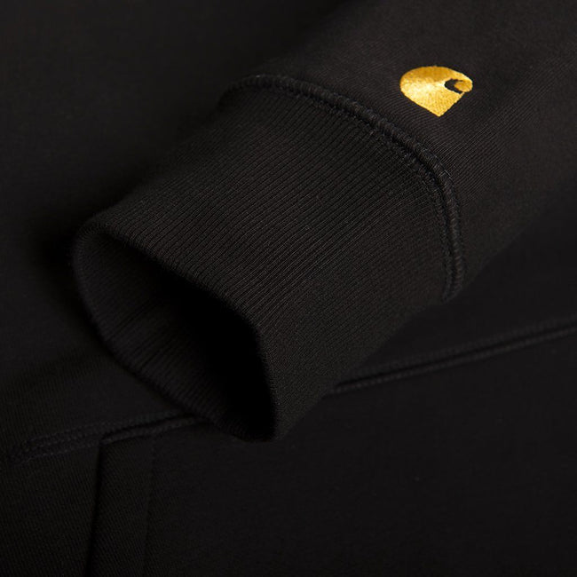 Carhartt Hooded Chase Sweatshirt in Black/Gold