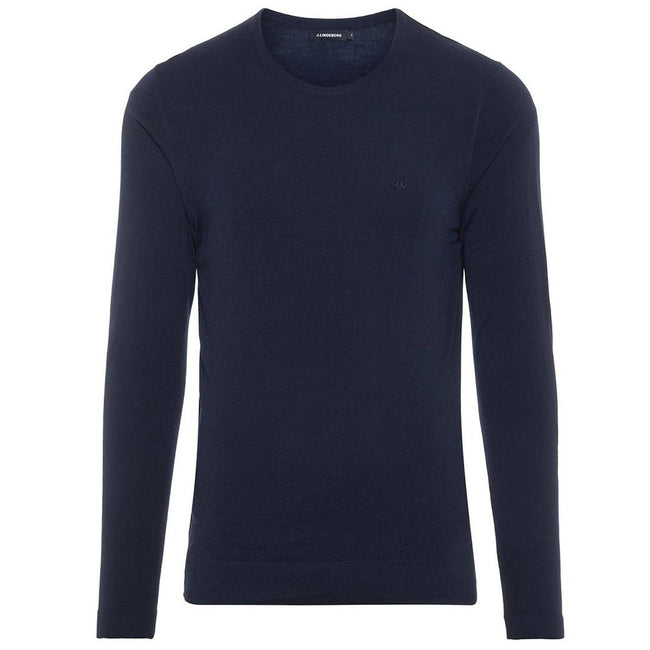 J. Lindeberg Newman C-Neck Perfect Merino Sweater in JL Navy Jumpers J. Lindeberg