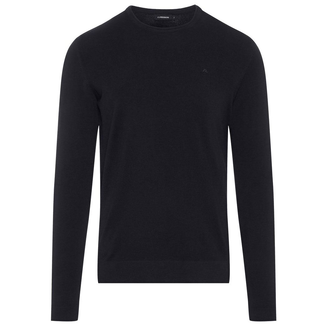 J Lindeberg Newman C-Neck Perfect Merino Sweater in Black