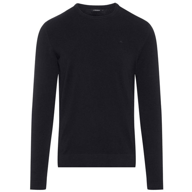 J. Lindeberg Newman C-Neck Perfect Merino Sweater in Black Jumpers J. Lindeberg