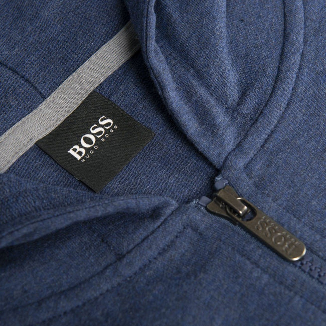 BOSS Bodywear Full Zip Contemp Jacket in Navy Hoodies BOSS