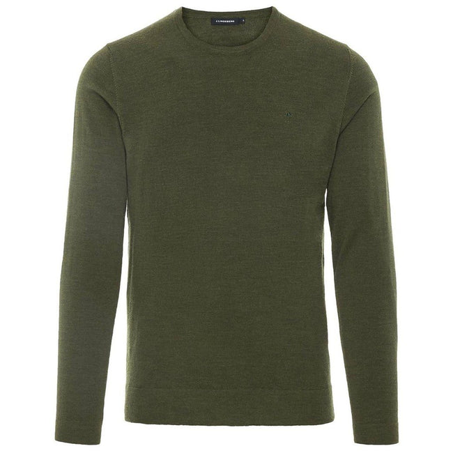 J. Lindeberg Newman C-Necck Perfect Merino Sweater in Ivy Green