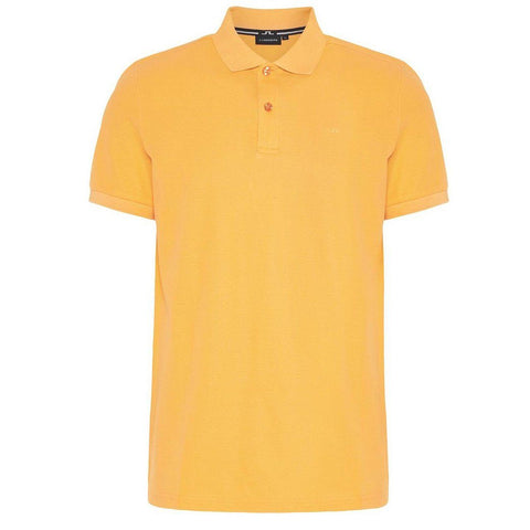 J. Lindeberg Troy Clean Pique Polo Shirt in Cool Peach Polo Shirts J. Lindeberg