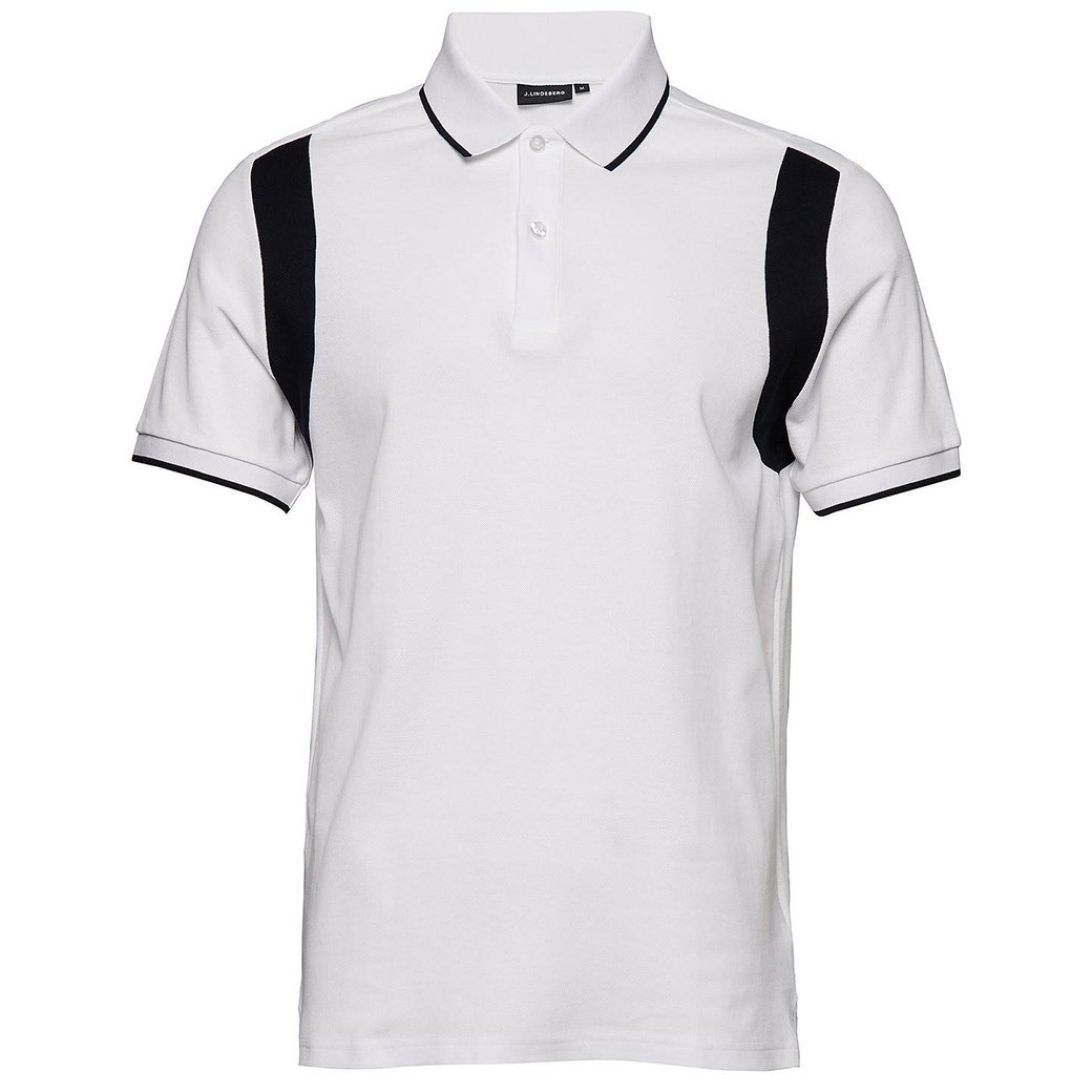 J. Lindeberg Cleeve Clean Pique Polo Shirt In White