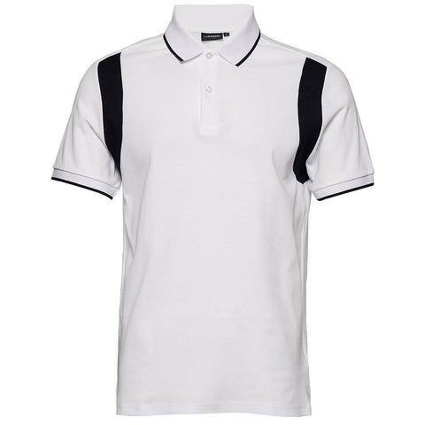 J. Lindeberg Cleeve Clean Pique Polo Shirt In White Polo Shirts J. Lindeberg