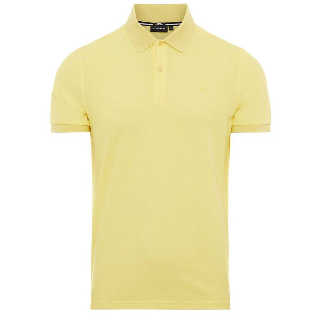 J. Lindeberg Troy Clean Pique Polo Shirt in Butter Yellow