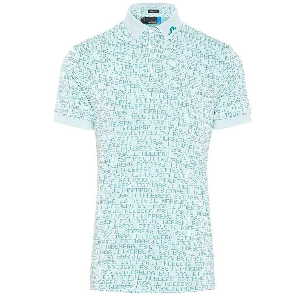 J. Lindeberg M KV Jaquard Regular Fit Polo Shirt In White