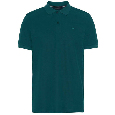 J. Lindeberg Troy Clean Pique Polo Shirt in Pine Polo Shirts J. Lindeberg