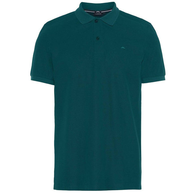 J. Lindeberg Troy Clean Pique Polo Shirt in Pine