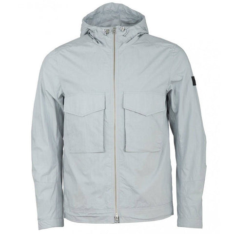 J. Lindeberg Bass Paper Cony Jacket in Stone Grey Coats & Jackets J. Lindeberg