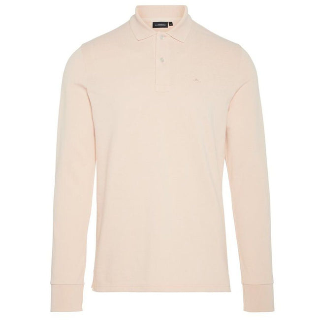 J. Lindeberg Luke Pique Polo Shirt in Summer Beige
