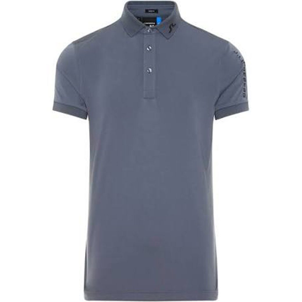 J. Lindeberg M Tour Tech Slim Fit TX Jersey Polo in Dark Grey