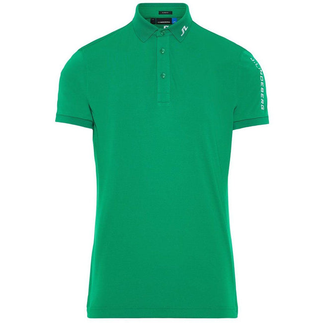 J. Lindeberg M Tour Tech Slim Fit TX Jersey Polo In Golf Green