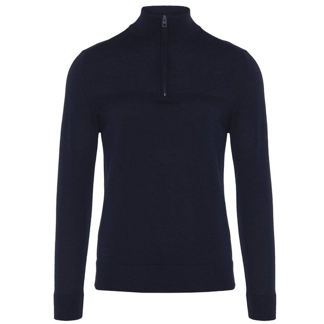 J. Lindeberg M Erik Tour Merino Sweater In Navy