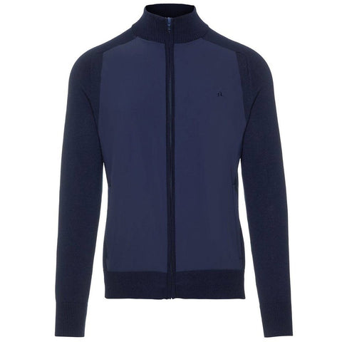 J. Lindeberg M Knitted Hybrid Jacket in Navy Coats & Jackets J. Lindeberg