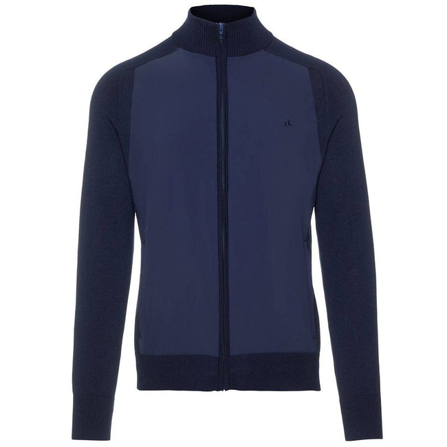 J. Lindeberg M Knitted Hybrid Jacket in Navy