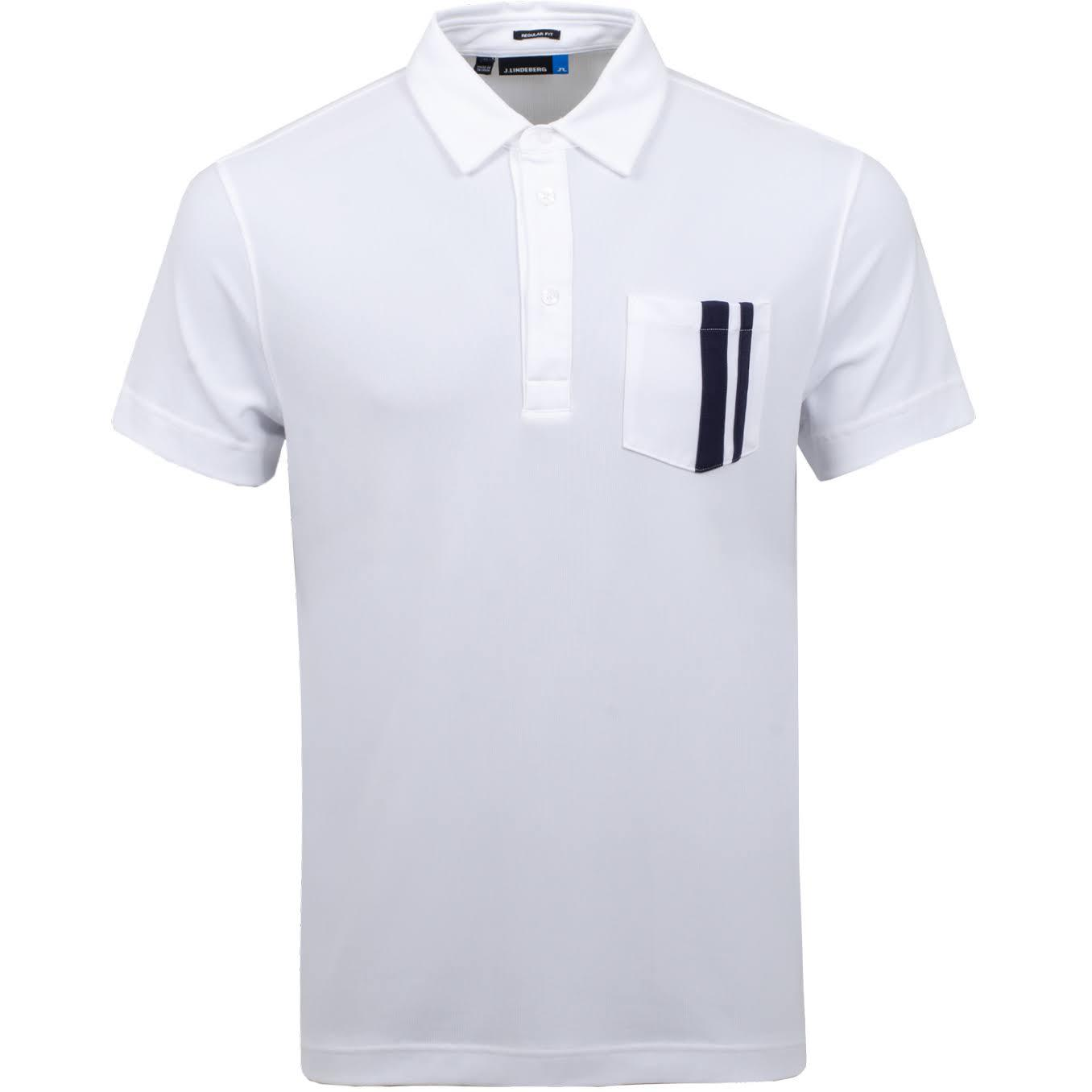 J. Lindeberg M Owen Regular Fit Lux Pique Polo in White